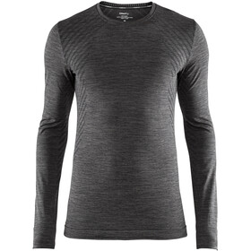 Craft Fuseknit Comfort Sweat-shirt manches longues à col rond Homme, black melange